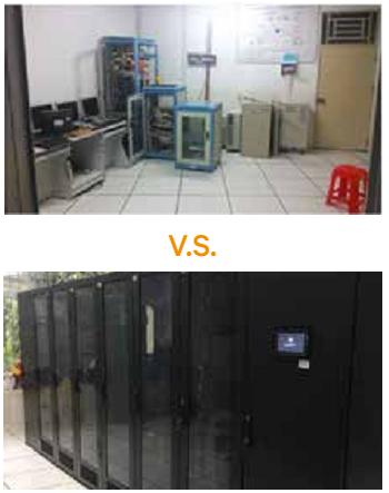 机房改造前后对比